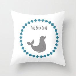 The Bark Club Throw Pillow