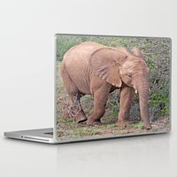 baby elephant Laptop & iPad Skins featuring Baby Elephant by Lynn Bolt
