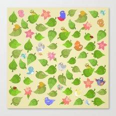 birds&leaves Canvas Print