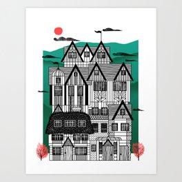 Tudor Revival Art Print