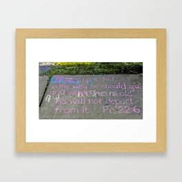 Train Up a Child Framed Art Print