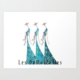 Zaza, Mimi & Gigi Art Print