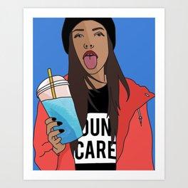 Dun Care Art Print