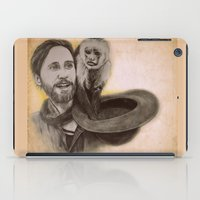 jared leto iPad Cases featuring Jared Leto and Ripley the monkey by Jenn