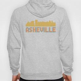 Vintage Style Asheville North Carolina Skyline Hoody