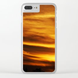 gold sky I Clear iPhone Case