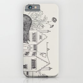 Johnny Crow's garden a picture book - L. Leslie Brooke - 1903 vintage Line Drawing Cat House iPhone Case