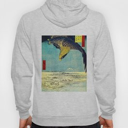 Hiroshige, Hawk Flight Over Field Hoody