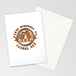 beer casual sex - I love beer Stationery Cards