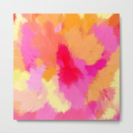 Pink, Orange and Yellow Watercolors Metal Print