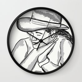 Cowgirl Portrait of a Woman in Love Wall Clock