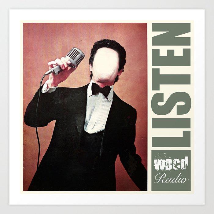 WDCD RADIO : Listen Art Print