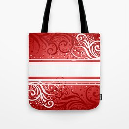 Abstract red-white background Tote Bag