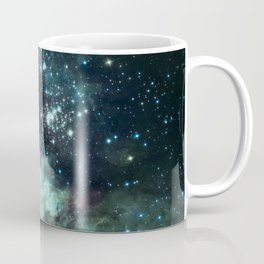 Teal Green Galaxy : Celestial Fireworks Coffee Mug