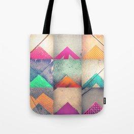 Bright Triangles Tote Bag