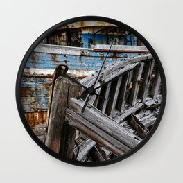 Ship Wreck Wall Clock