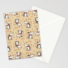 EMOTIONAL WHITE DOGGY  Stationery Cards