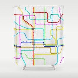 London Tube Underground Shower Curtain