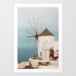 Oia Windmill Art Print