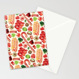 Christmas Candy Pattern Stationery Cards