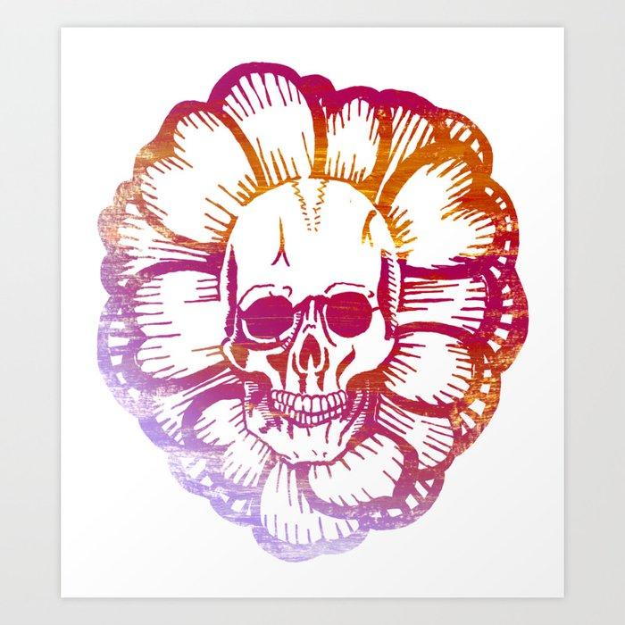 Shaka Skull Art Print