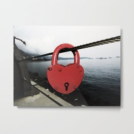 LockedUpHeart Metal Print