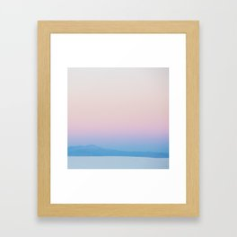 Desert Sunrise Vibes Framed Art Print