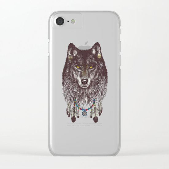 Wind Catcher Wolf Clear iPhone Case