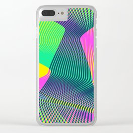 Waves on a new world Clear iPhone Case