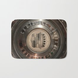 1955 hub cap Bath Mat