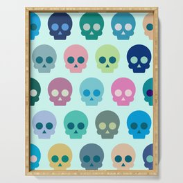 Colorful Skull Cute Pattern Serving Tray