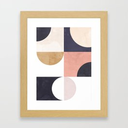 Geometric Moontime 1 Framed Art Print