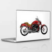 motorcycle Laptop & iPad Skins featuring Motorcycle by magnez2