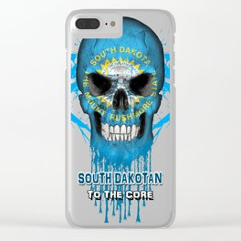 To The Core Collection: South Dakota Clear iPhone Case