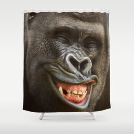 Smiling Gorilla (^_^) Shower Curtain