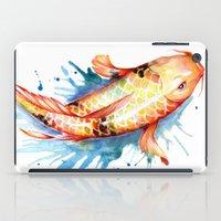 koi iPad Cases featuring Koi by Sam Nagel