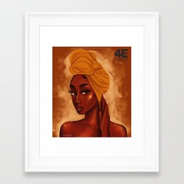 U R my african queen Framed Art Print