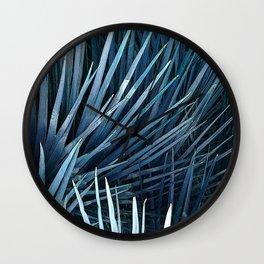 Washingtonia in blue Wall Clock