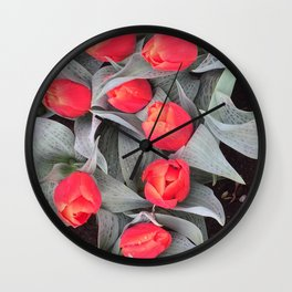 Keukenhof Red 1 Wall Clock