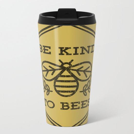 Be Kind To Bees Metal Travel Mug