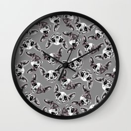 Shynx Half Skull Pattern Wall Clock