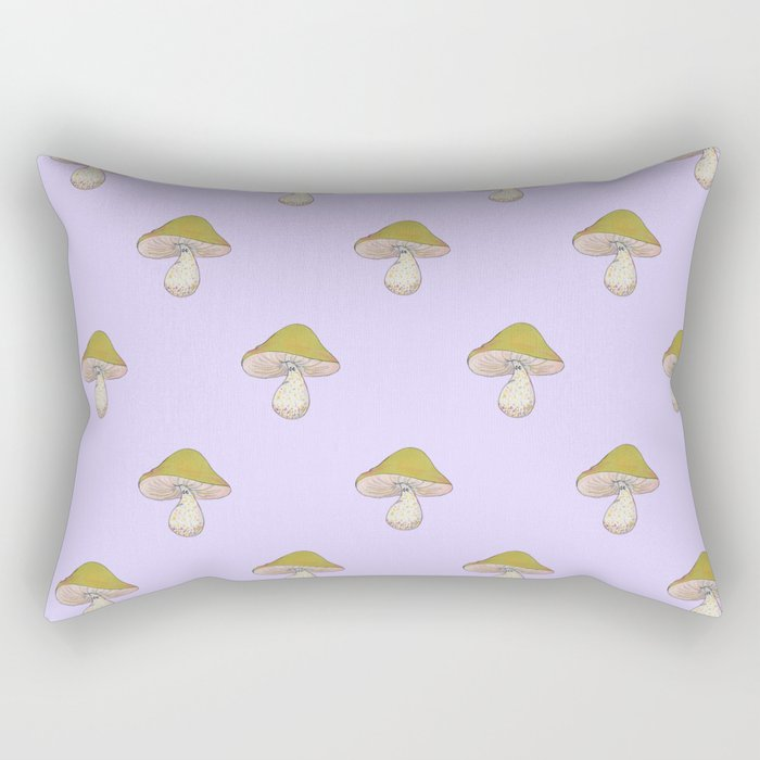 Capped Fellow pattern in lilac Rectangular Pillow