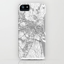 Valencia Map Line iPhone Case
