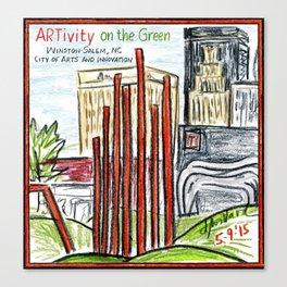 ARTivity on the Green Canvas Print