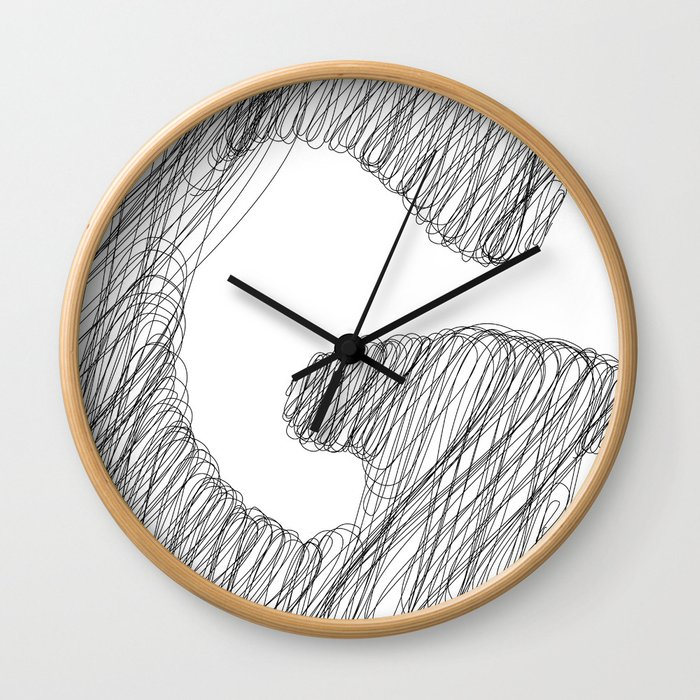 """ Cloud Collection "" - Minimal Letter G Print Wall Clock"
