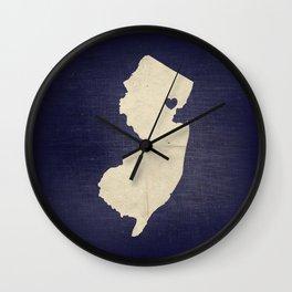 Newark, New Jersey Love Print Wall Clock