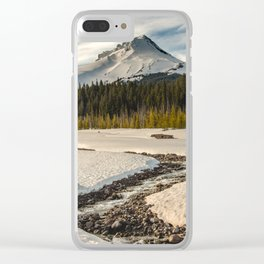 Marvelous Mount Hood at sunset Clear iPhone Case