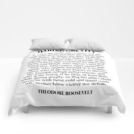 Daring Greatly, Theodore Roosevelt, Quote Comforters