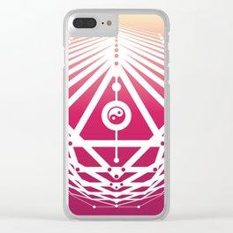 Radiant Abundance (sunrise-white) Clear iPhone Case