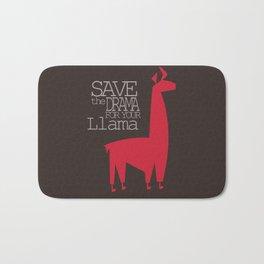 Save the Drama for your Llama Bath Mat
